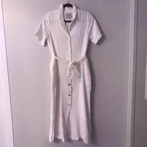 BRAND NEW Button-Front Midi Dress